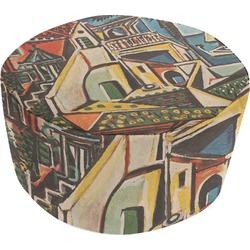 Mediterranean Landscape by Pablo Picasso Round Pouf Ottoman