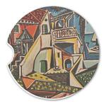 Mediterranean Landscape by Pablo Picasso Sandstone Car Coasters