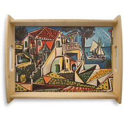 Mediterranean Landscape by Pablo Picasso Natural Wooden Tray - Large