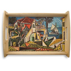Mediterranean Landscape by Pablo Picasso Natural Wooden Tray