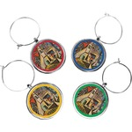 Mediterranean Landscape by Pablo Picasso Wine Charms (Set of 4)