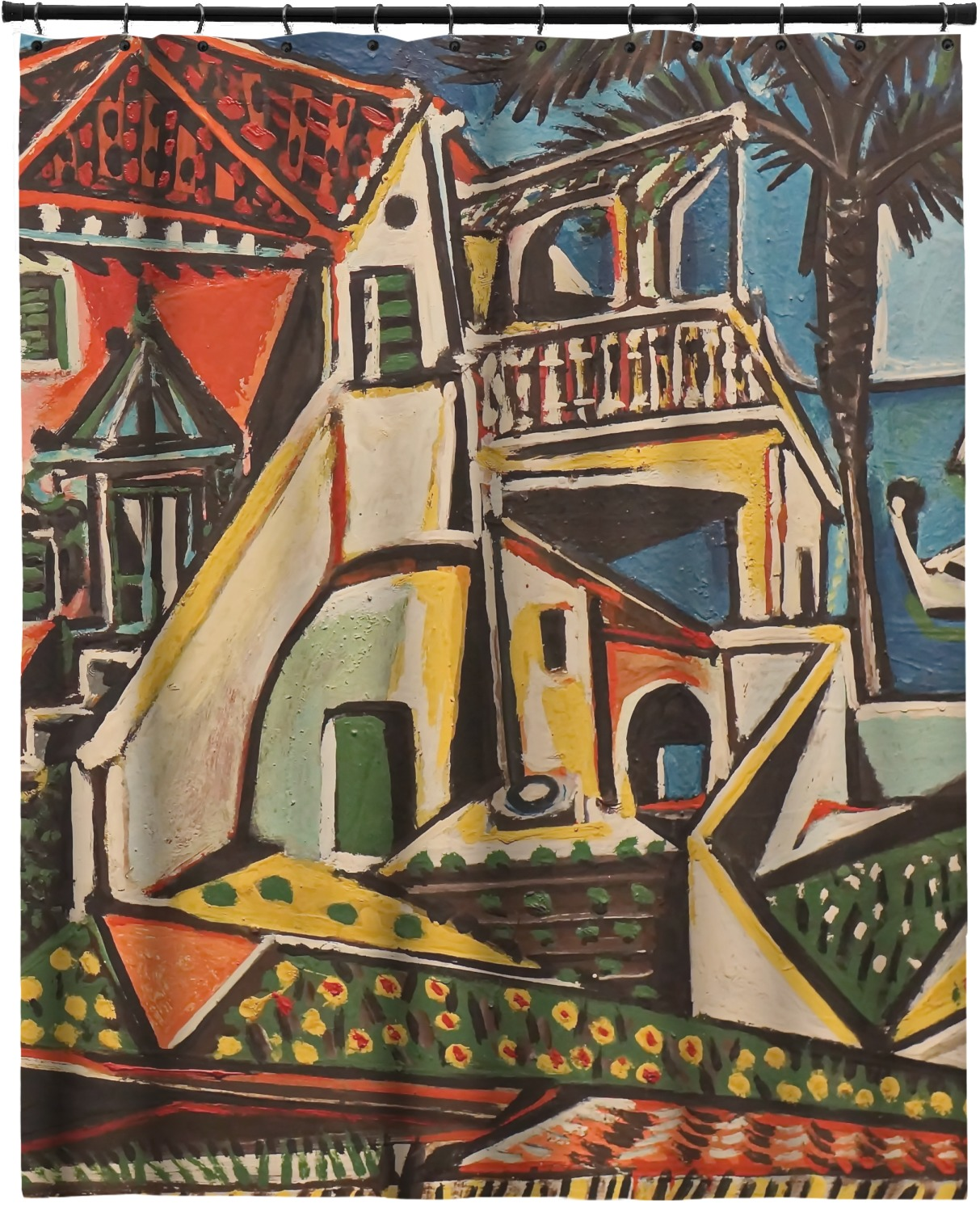 Mediterranean Landscape By Pablo Picasso Extra Long Shower Curtain