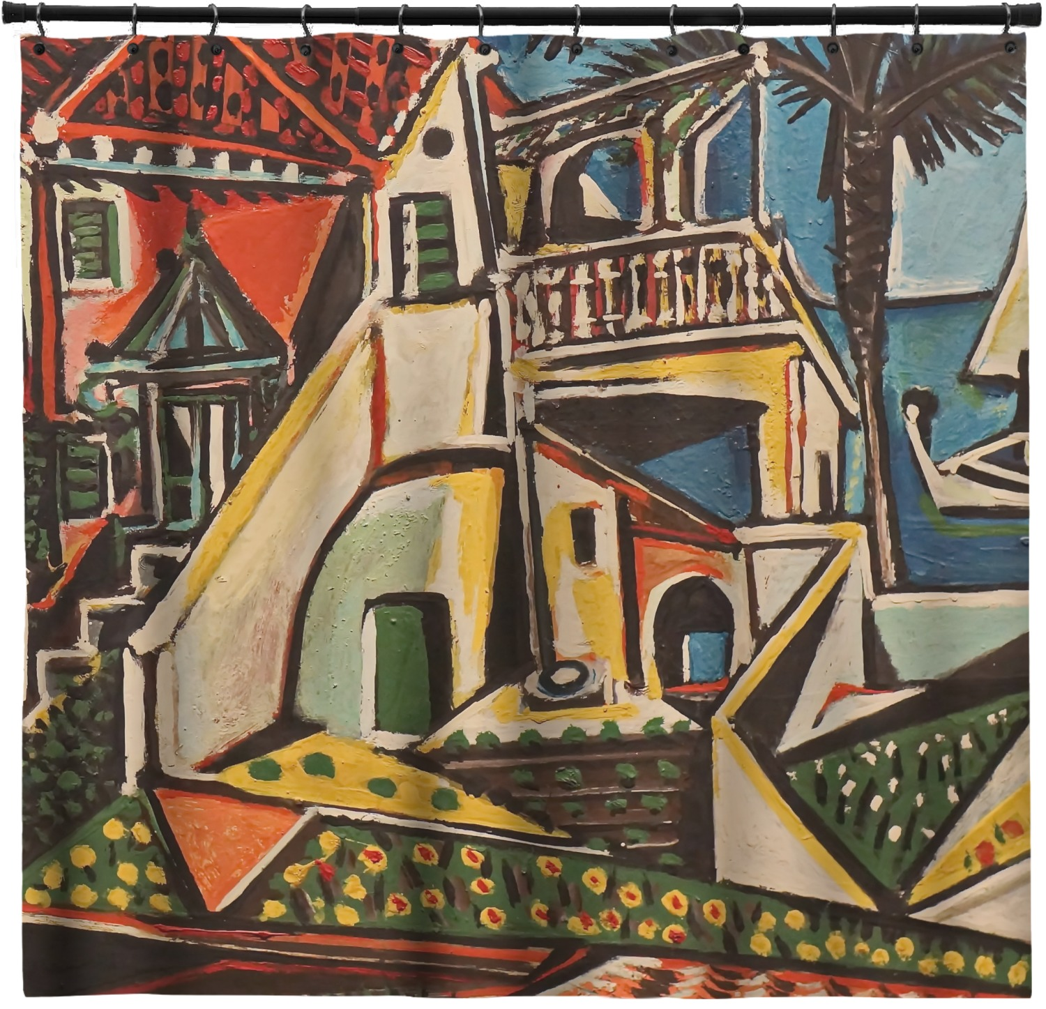 Superieur Mediterranean Landscape By Pablo Picasso Shower Curtain