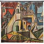 Mediterranean Landscape by Pablo Picasso Shower Curtain