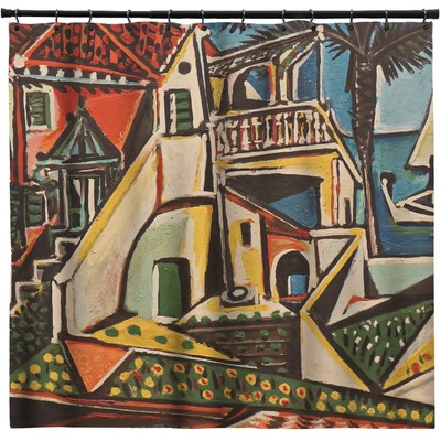 Mediterranean Landscape by Pablo Picasso Shower Curtain