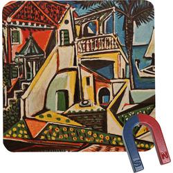 Mediterranean Landscape by Pablo Picasso Square Fridge Magnet