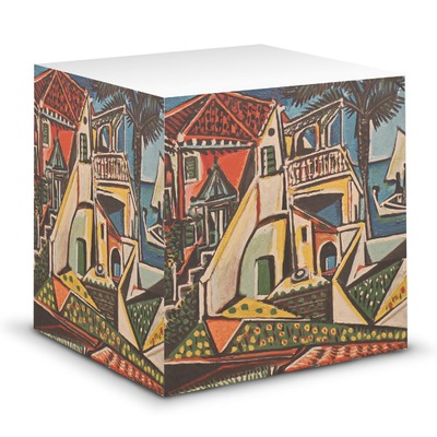 Mediterranean Landscape by Pablo Picasso Sticky Note Cube