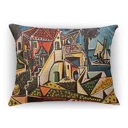 "Mediterranean Landscape by Pablo Picasso Rectangular Throw Pillow Case - 12""x18"""