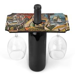 Mediterranean Landscape by Pablo Picasso Wine Bottle & Glass Holder