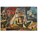 Mediterranean Landscape by Pablo Picasso Woven Mat