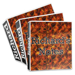 Fire 3-Ring Binder (Personalized)