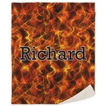 Fire Sherpa Throw Blanket (Personalized)