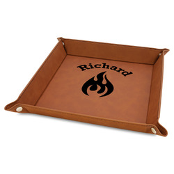 Fire Faux Leather Valet Tray (Personalized)