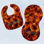 Fire Baby Bib & Burp Set w/ Name or Text