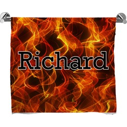 Fire Full Print Bath Towel (Personalized)