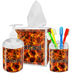 Fire Acrylic Bathroom Accessories Set w/ Name or Text