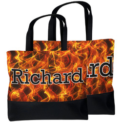 Fire Beach Tote Bag (Personalized)