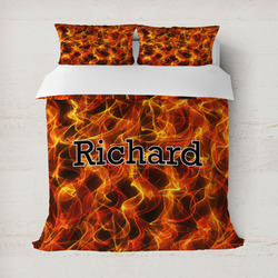 Fire Duvet Cover Set - Full / Queen (Personalized)