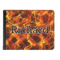 Fire Genuine Leather Men's Bi-fold Wallet (Personalized)