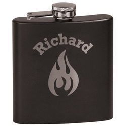 Fire Black Flask Set (Personalized)