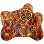 Fire Bone Shaped Dog Food Mat (Personalized)