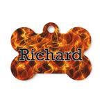 Fire Bone Shaped Dog Tag (Personalized)