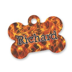 Fire Bone Shaped Dog Tag (Personalized)