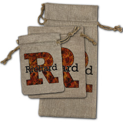 Fire Burlap Gift Bags (Personalized)
