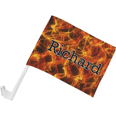 Fire Car Flag - Small w/ Name or Text