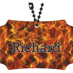 Fire Rear View Mirror Ornament (Personalized)