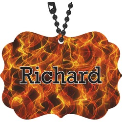 Fire Rear View Mirror Charm (Personalized)