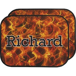 Fire Car Floor Mats (Back Seat) (Personalized)