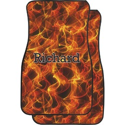 Fire Car Floor Mats (Front Seat) (Personalized)