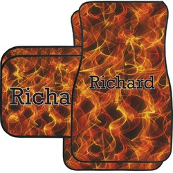 Fire Car Floor Mats Set - 2 Front & 2 Back (Personalized)