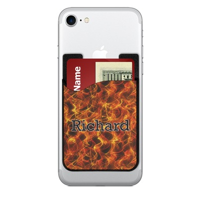 Fire 2-in-1 Cell Phone Credit Card Holder & Screen Cleaner (Personalized)