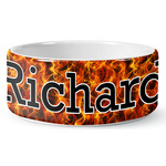Fire Ceramic Dog Bowl (Personalized)