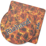 Fire Rubber Backed Coaster (Personalized)