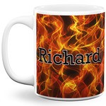 Fire 11 Oz Coffee Mug - White (Personalized)