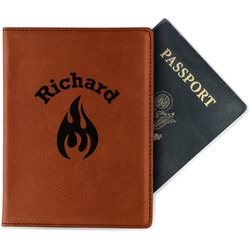 Fire Leatherette Passport Holder (Personalized)