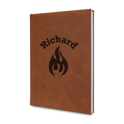 Fire Leatherette Journal (Personalized)