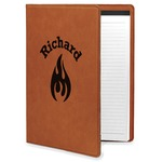 Fire Leatherette Portfolio with Notepad (Personalized)