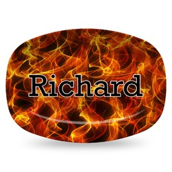Fire Plastic Platter - Microwave & Oven Safe Composite Polymer (Personalized)