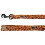 Fire Deluxe Dog Leash (Personalized)