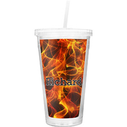 Fire Double Wall Tumbler with Straw (Personalized)