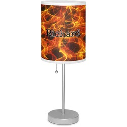 """Fire 7"""" Drum Lamp with Shade (Personalized)"""