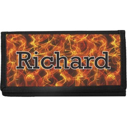 Fire Canvas Checkbook Cover (Personalized)