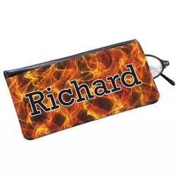 Fire Genuine Leather Eyeglass Case (Personalized)