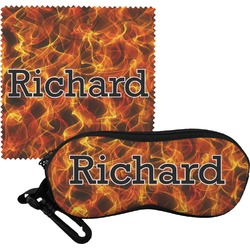 Fire Eyeglass Case & Cloth (Personalized)