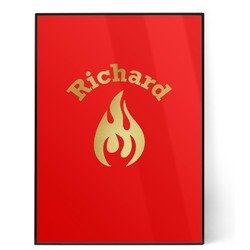 Fire 5x7 Red Foil Print (Personalized)
