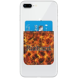 Fire Genuine Leather Adhesive Phone Wallet (Personalized)
